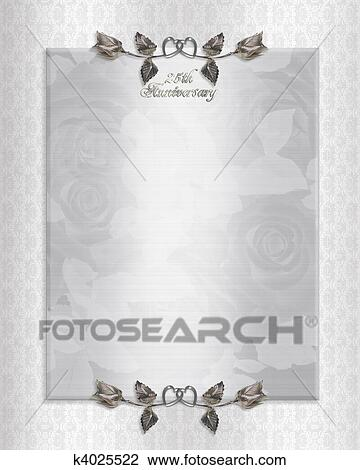 Clip art of 25th silver anniversary invitation k4025522 search clip art 25th silver anniversary invitation fotosearch search clipart illustration posters stopboris