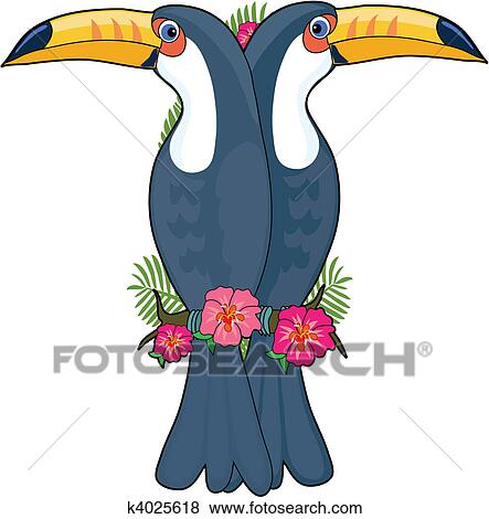 clip art of animal alphabet toucan k4025618 search clipart rh fotosearch com toucan clip art for kids clipart toucan bird