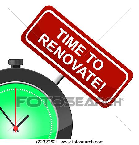 clipart time to renovate shows fix up and improve fotosearch search clip art