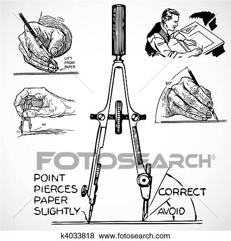 vintage tools vector. clip art - vector vintage drafting tools. fotosearch search clipart, illustration posters, tools n