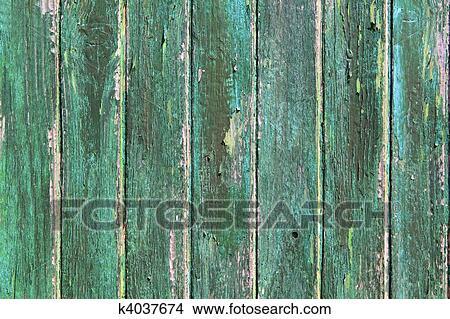 Banque de photo vieilli a m ri vert bois peinture for Peinture bois vieilli