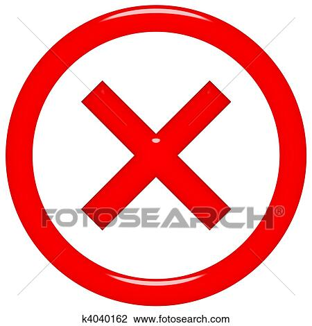 Clip Art of 3d rejected or rated X sign k4040162 - Search Clipart ...