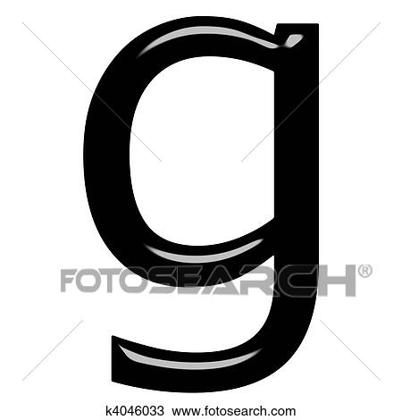 Drawing of 3d letter g k4046033 - Search Clipart, Illustration ...