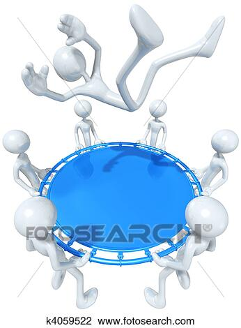 Clip Art of Safety Net k4059522 - Search Clipart ...