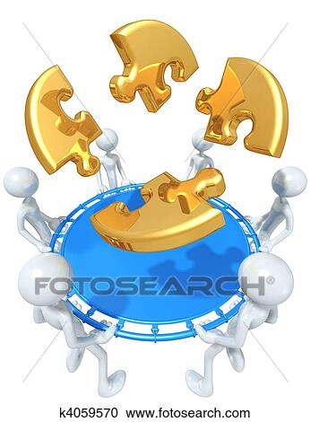 Stock Illustrations of Puzzle Safety Net k4059570 - Search ...