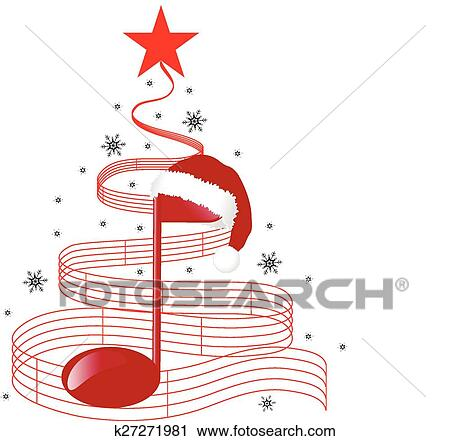 clipart weihnachten musik baum k27271981 suche clip. Black Bedroom Furniture Sets. Home Design Ideas