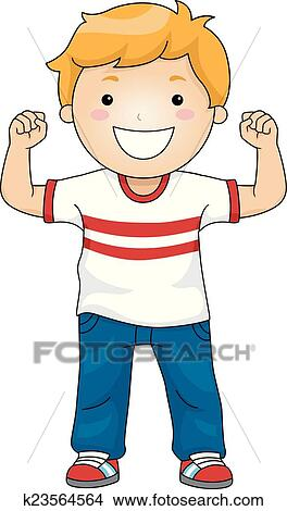 clipart of strong boy k23564564 search clip art illustration rh fotosearch com strong clipart clipart strong woman
