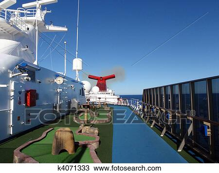 Stock Photo Of Cruise Ship Mini Golf Course K4071333