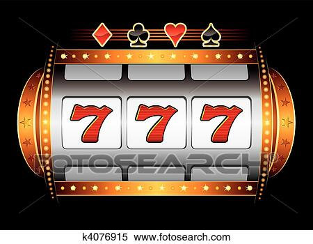 Clipart of Casino machine k4076915 - Search Clip Art, Illustration ...