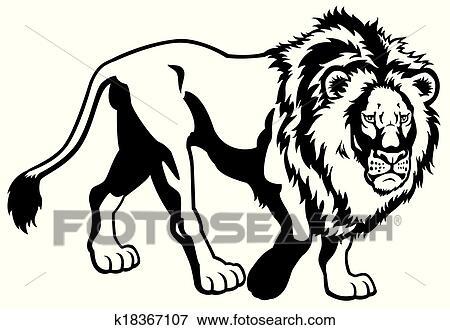 Line Art Lion : Clip art of lion black white k search clipart