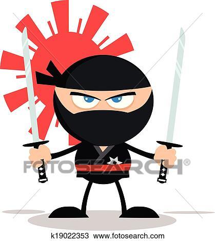 clipart of angry ninja warrior character k19022353 search clip art rh fotosearch com ninja warrior clipart warrior clipart gif