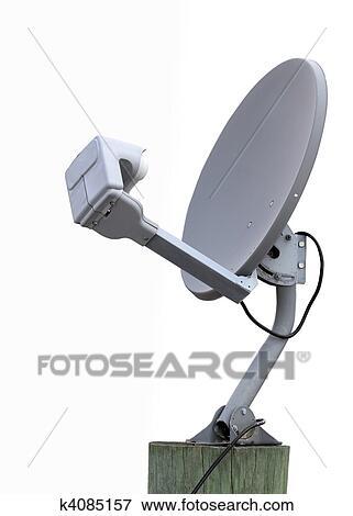 image r cepteur satellite plat k4085157 recherchez. Black Bedroom Furniture Sets. Home Design Ideas