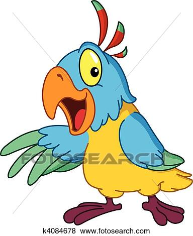 clip art of presenting parrot k4084678 search clipart rh fotosearch com parrot clipart clipart parrot outline