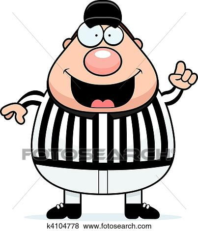 Clip Art of Referee Making Call k4104778 - Search Clipart ...