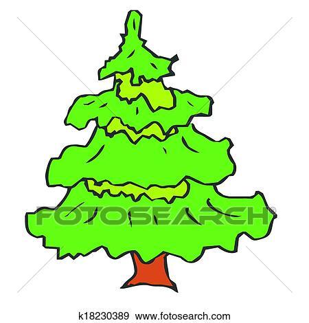 Clip art rbol navidad vector abeto rboles de pino for Ver fotos de arboles de hoja perenne