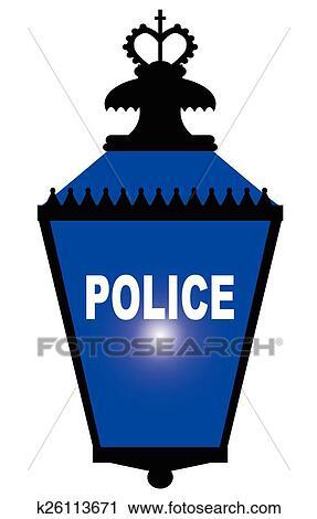 Polizeiwache clipart  Clipart - polizeiwache, blaues licht k26113671 - Suche Clip Art ...