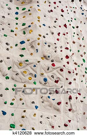 Pictures of Colorful Rock Climbing Wall with Ropes k4120628 ...