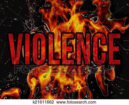 Banco de Imagem - violência, tipografia, grunge, estilo, ilustração, desenho. Fotosearch - Busca de Fotografias, Impressões, Imagens, e Fotos Clip Art