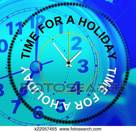 Stock Illustration of Relax Holiday Shows Go On Leave And ...