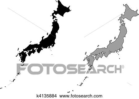 Japan map Clipart EPS Images. 1,690 japan map clip art vector ...