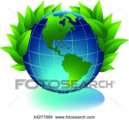 Clipart Of Green Earth K4271094