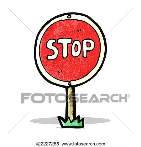 clipart of cartoon stop sign k22227265 search clip art rh fotosearch com clipart stop sign free clipart bus stop sign