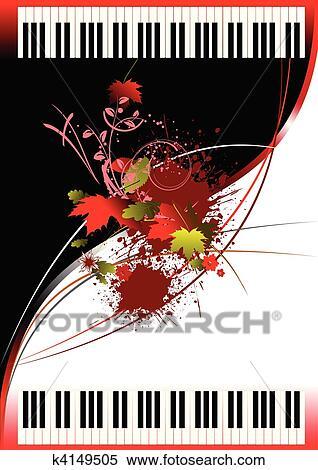 clipart decke f r brosch re mit zwei klaviere k4149505 suche clip art illustration. Black Bedroom Furniture Sets. Home Design Ideas