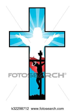 clipart of christian cross k32298712 search clip art illustration rh fotosearch com christian cross and bible clipart
