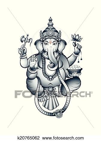 clipart indien dieu ganesha k20765062 recherchez des clip arts des illustrations des. Black Bedroom Furniture Sets. Home Design Ideas