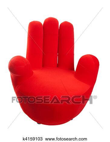 Stock foto rood hand stoel k4159103 zoek stockbeelden poster fotografie n beelden en - Stoel rode huis van de wereld ...