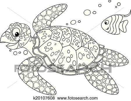 剪贴画 海海龟
