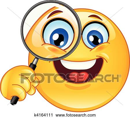Clipart of magnifying glass emoticon k4164111 search clip art clipart magnifying glass emoticon fotosearch search clip art illustration murals drawings voltagebd Gallery