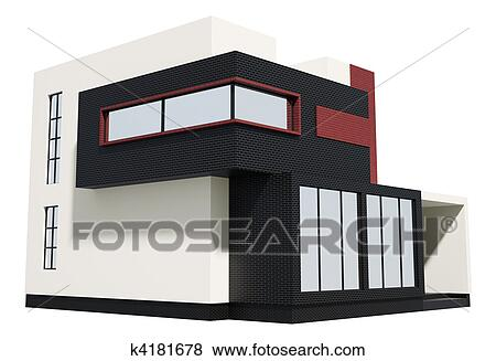Stock Illustration of Modern house exterior 3d k4181678 Search