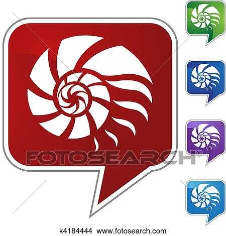 Clipart of Nautilus Shell k4184444 - Search Clip Art, Illustration ...