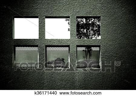 Stock fotografie alkoof met vensters k36171440 zoek stockfoto 39 s beelden muurkunst - Muur niche ...