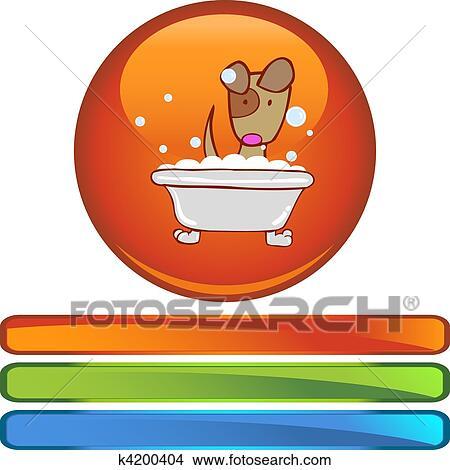 剪贴画 小狗, 洗澡