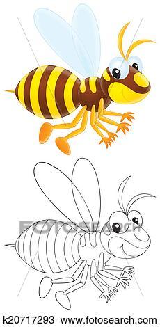 手绘图 - 黄蜂