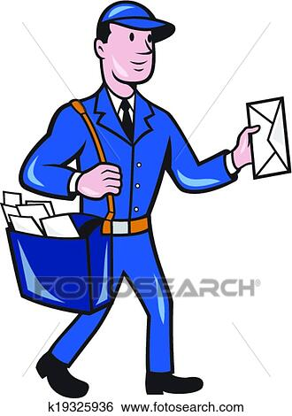 clip art of mailman postman delivery worker isolated cartoon rh fotosearch com mailman clip art images mailman clipart images