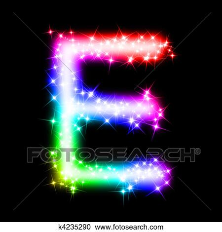Stock Illustrations Of Colorful Alphabet Letter E
