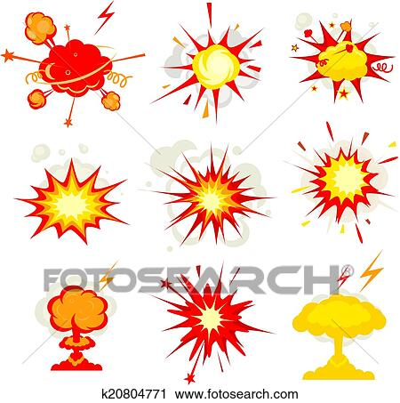 clipart of explosion blast or bomb bang fire k20804771 search rh fotosearch com blast clip art blast clipart free