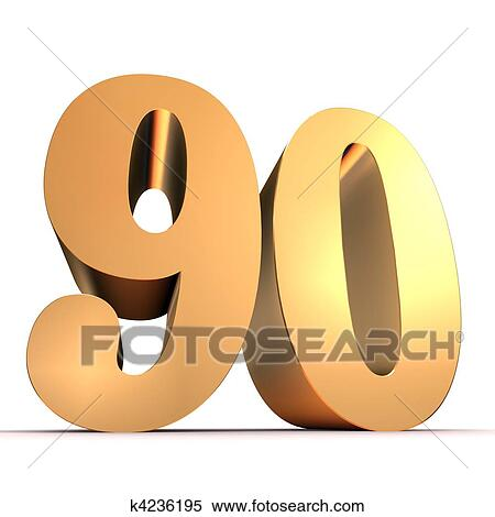 Stock Illustration of golden number - 90 k4236195 - Search Clipart ...