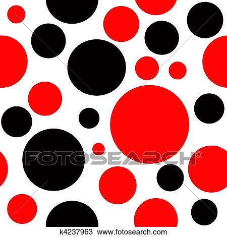 Red Dot Black Background Red And Black Polka Dot