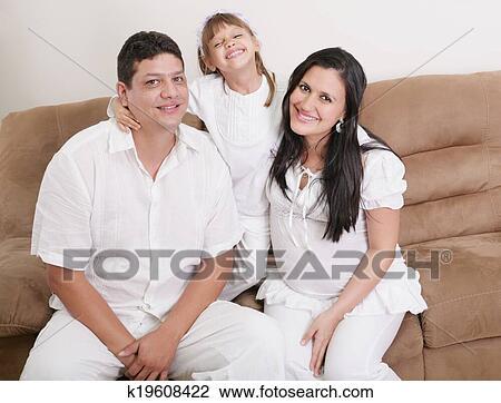 Colección de foto - retrato, de, un, feliz, familia ...