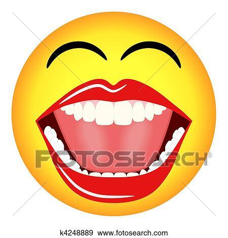 stock illustration lachender smiley emoticon k4248889
