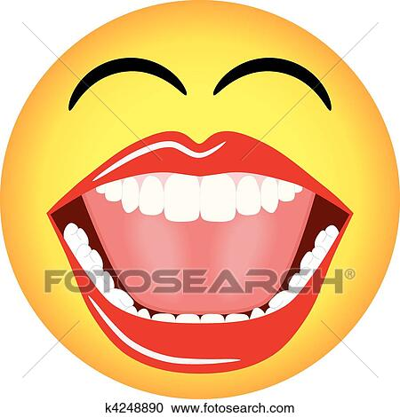 Clipart of Smiley Face Emoticon Vector k4248890 - Search ...