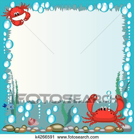 Clipart mare cornice k4266591 cerca clipart for Clipart mare