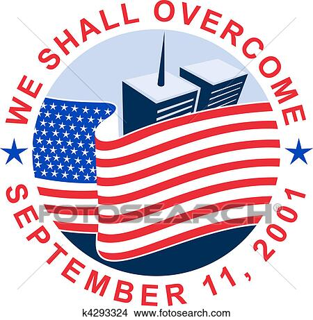 drawings of american flag with world trade center twin tower rh fotosearch com twin towers malaysia clipart twin towers collapse clipart