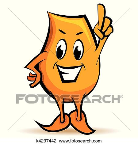 clipart of cartoon character attention sign k4297442 search clip rh fotosearch com attention clipart signe attention clipart