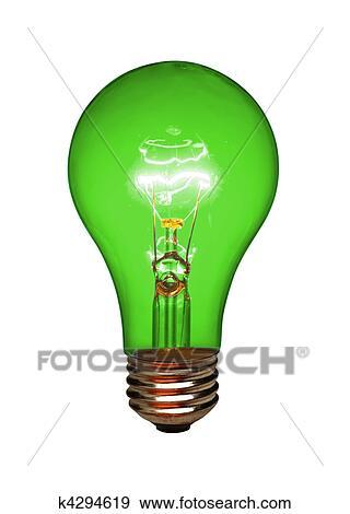 banque de photographies feu vert ampoule isol k4294619 recherchez des photos des images. Black Bedroom Furniture Sets. Home Design Ideas