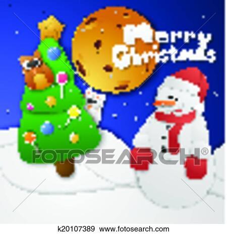 剪贴画 - 圣诞节, snowman